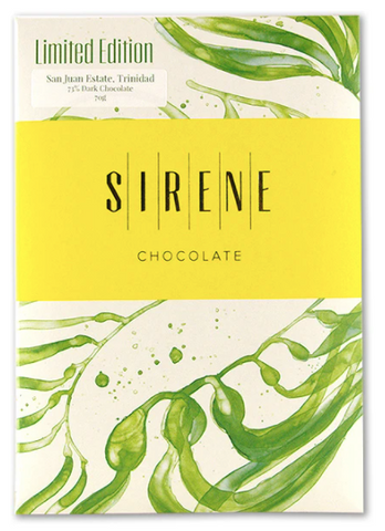 Sirene Chocolate Limited Edition San Juan Estate, Trinidad 73% Dark at The Candy Bar Toronto