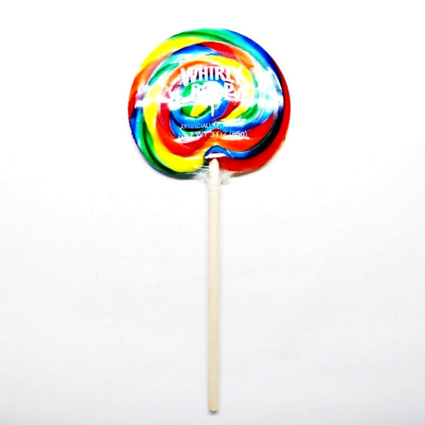 Whirley Pop - Rainbow-small- 3 inches across. Also available Medium 4 inches, large 5 inches.
