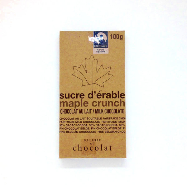 Galerie au Chocolat Maple Crunch at The Candy Bar