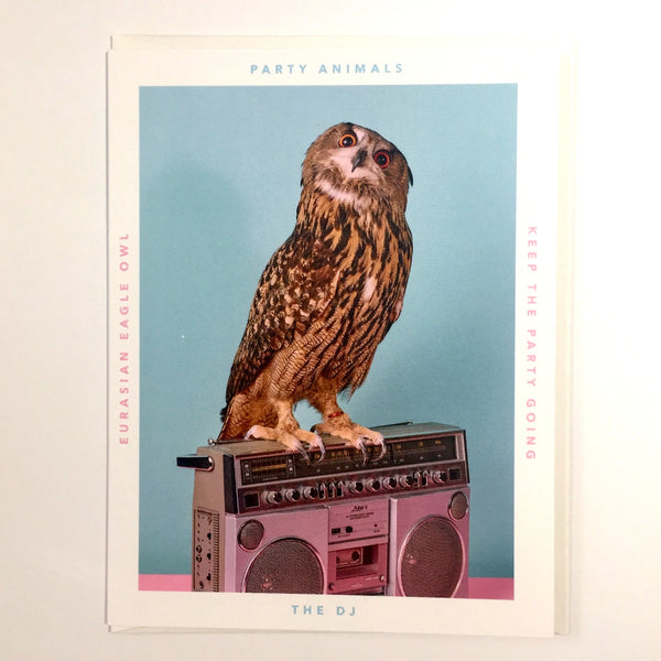 Party Animal Card - The DJ - Katherine Holland