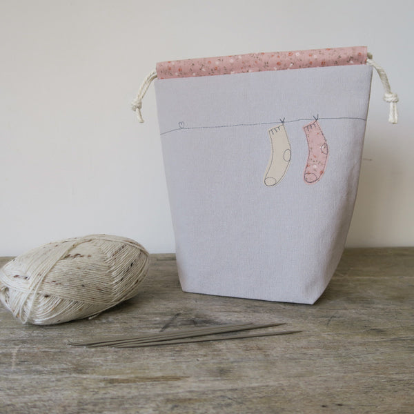 Pretty Socks Drawstring Bag
