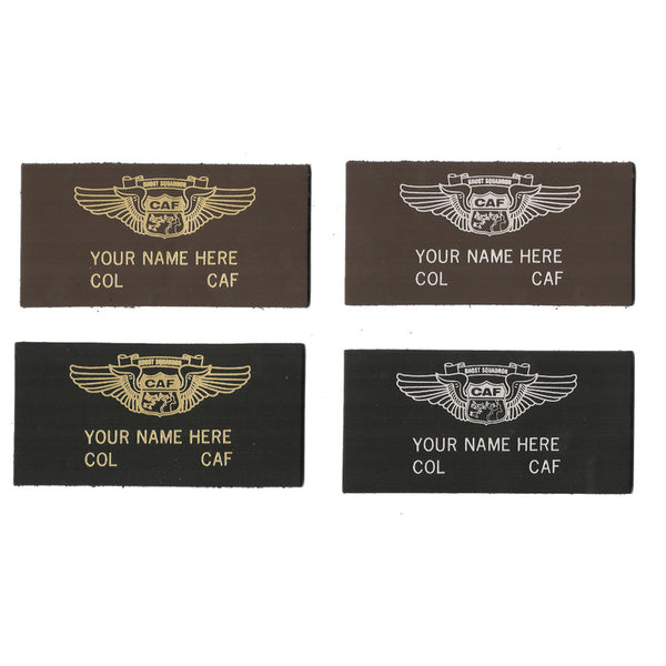 CAF Colonel Leather Name Patch - CAF Gift Shop