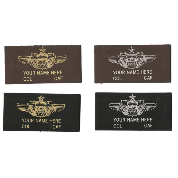 CAF Lifetime Member Leather Name Patch - CAF Gift Shop