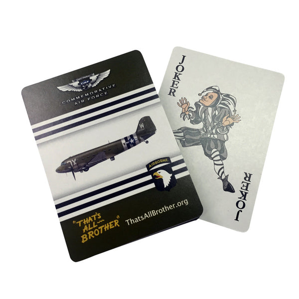 C-47 That's All Brother Playing Cards - CAF Gift Shop