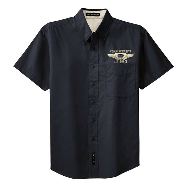 CAF Mens Short Sleeve Button Down with Custom Embroidery - CAF Gift Shop