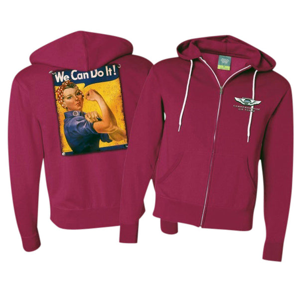 Rosie The Riveter Hoodie - CAF Gift Shop - 1