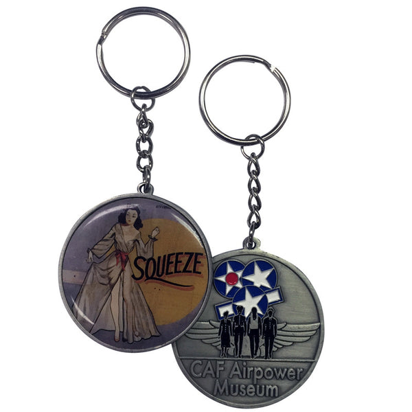 Nose Art Keychain - CAF Gift Shop - 3