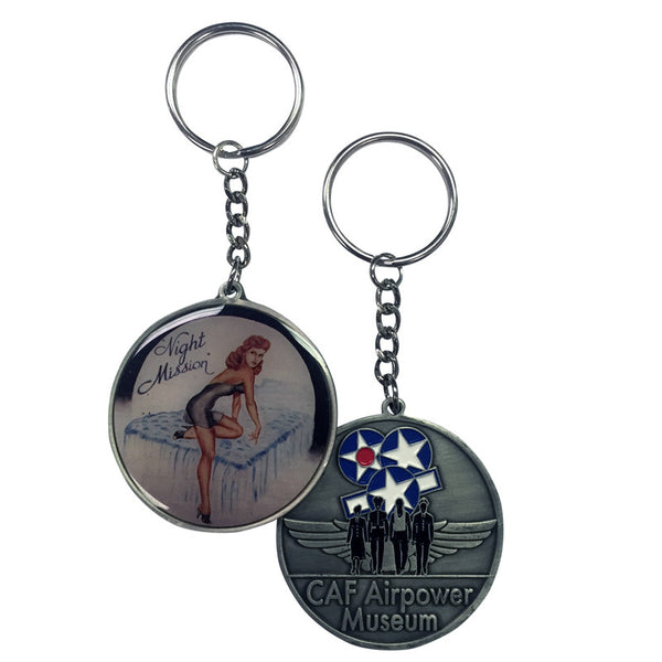 Nose Art Keychain - CAF Gift Shop - 4