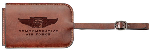 CAF Leather Luggage Tag