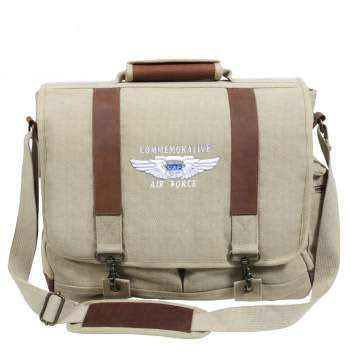Canvas Laptop Bag With Leather Accents