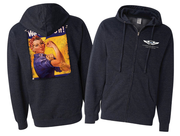 Rosie The Riveter Hoodie - CAF Gift Shop - 2
