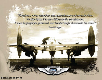 "P-38 Freedom ""Regan Quote"" T-Shirt"