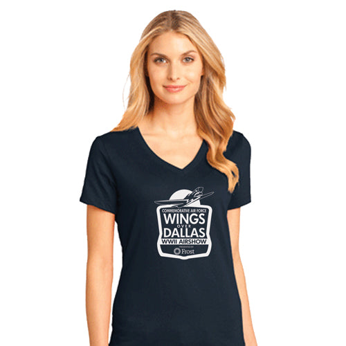 Women's Wings Over Dallas V-Neck T-Shirt