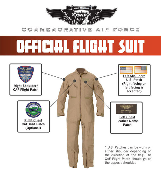 CAF Tan Nomex Flight Suit - CAF Gift Shop - 2