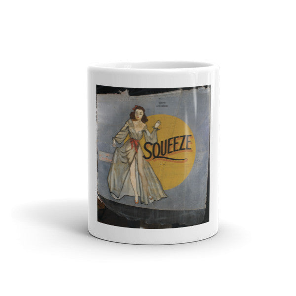 """Squeeze"" CAF Nose Art Mug - CAF Gift Shop - 1"