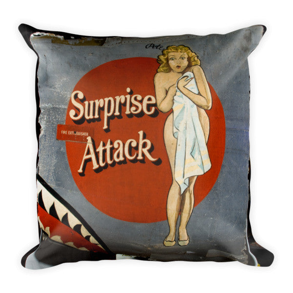 """Surprise Attack"" CAF Nose Art Pillow - CAF Gift Shop"