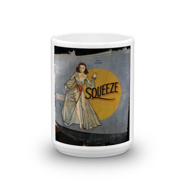 """Squeeze"" CAF Nose Art Mug - CAF Gift Shop - 7"