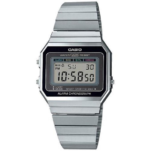 CASIO Montre CASIO Vintage Unisexe en Acier A700WE-1AEF