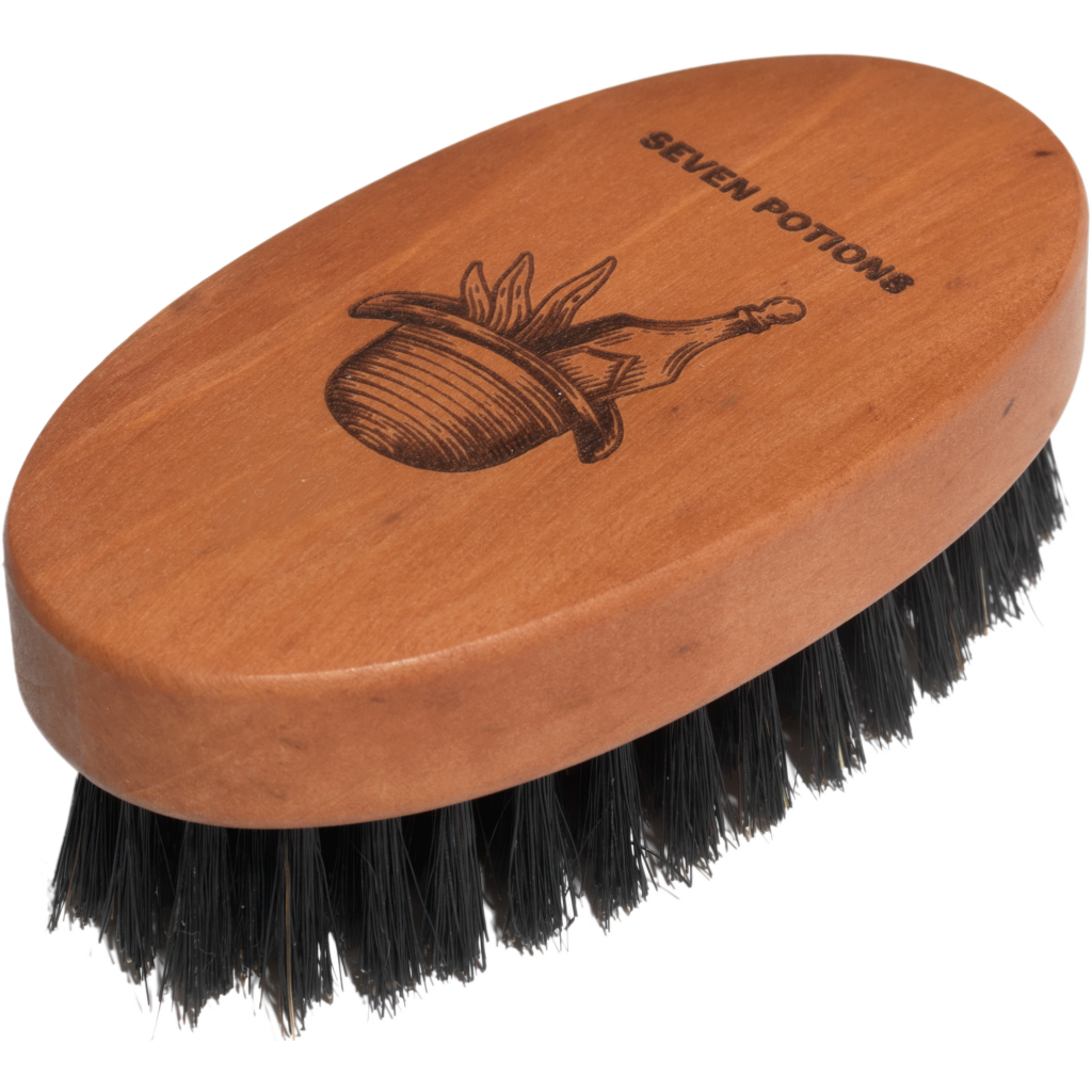 Seven Potions Beard Brush with firm boar bristles