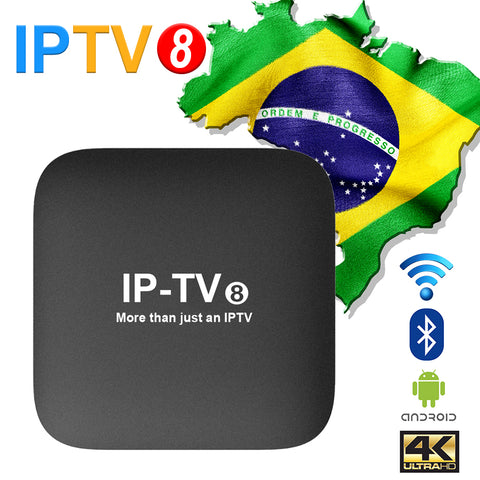 BRAZIL TV IPTVKINGS IPTV8 4K Brazilian Portuguese TV BOX IPTV 280+ Live TV/Cine/Playback