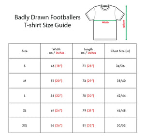 Badly Drawn Footballers T-shirt - Keinan Davis