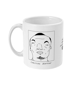 Badly Drawn Footballers Mug - Christian Benteke