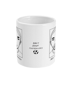 Badly Drawn Footballers Mug - Niels Nkounkou