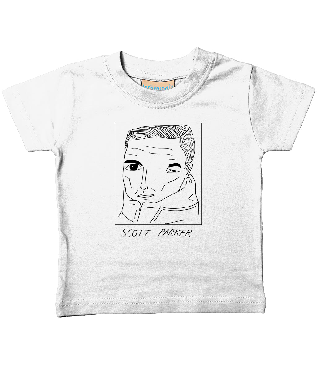 Badly Drawn Footballers - Baby / Toddler Organic T-Shirt - Scott Parker