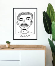 Load image into Gallery viewer, Badly Drawn Footballers - Allan  - Poster - 3 FOR 2