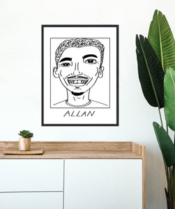 Badly Drawn Footballers - Allan  - Poster - 3 FOR 2