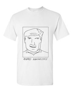 Badly Drawn Andrei Kanchelskis T-shirt - 1994 Manchester United