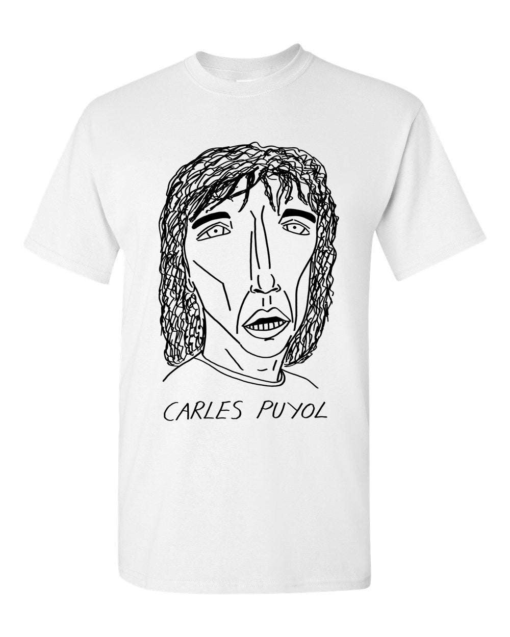 Badly Drawn Footballers T-shirt - Carles Puyol