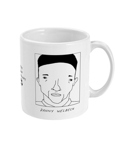 Badly Drawn Footballers Mug - Danny Welbeck