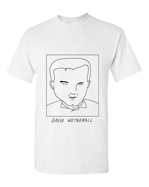 Badly Drawn David Wetherall T-shirt - 1994 Leeds United