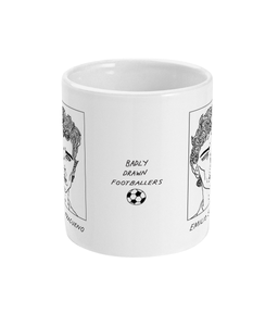 Badly Drawn Footballers Mug - Emilio Butragueno