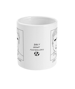 Badly Drawn Footballers Mug - Eric Cantona