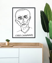 Load image into Gallery viewer, Badly Drawn Footballers - Fabio Cannavaro - Poster - 3 FOR 2