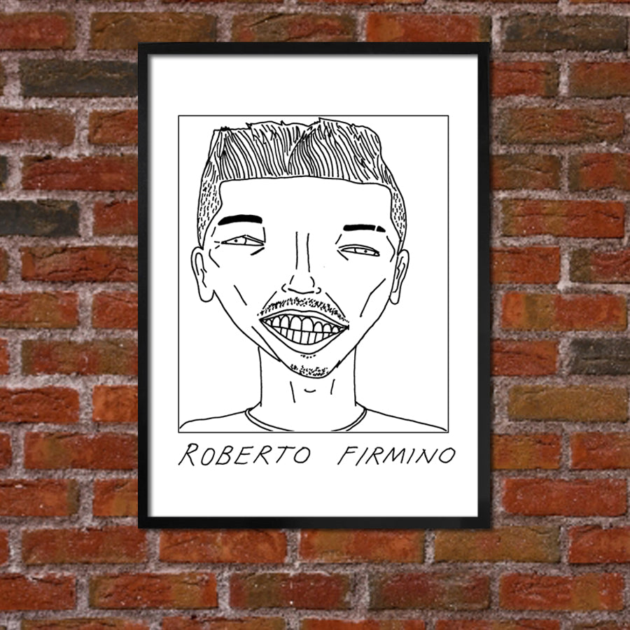 Badly Drawn Firmino - Liverpool F.C. Premier League Champions - Poster