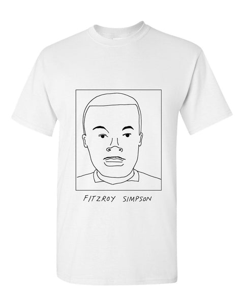 Badly Drawn Fitzroy Simpson T-shirt - 1994 Manchester City