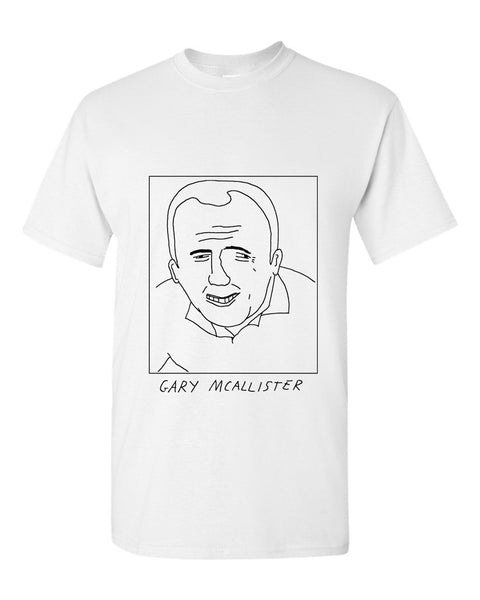 Badly Drawn Gary McAllister T-shirt - 1994 Leeds United