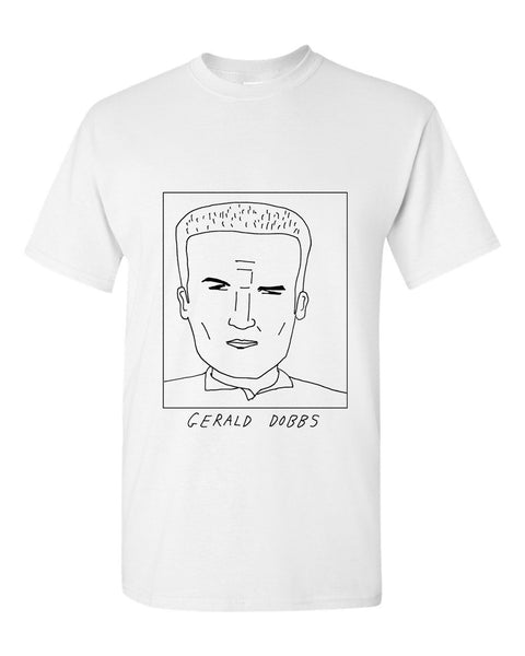 Badly Drawn Gerald Dobbs T-shirt - 1994 Wimbledon