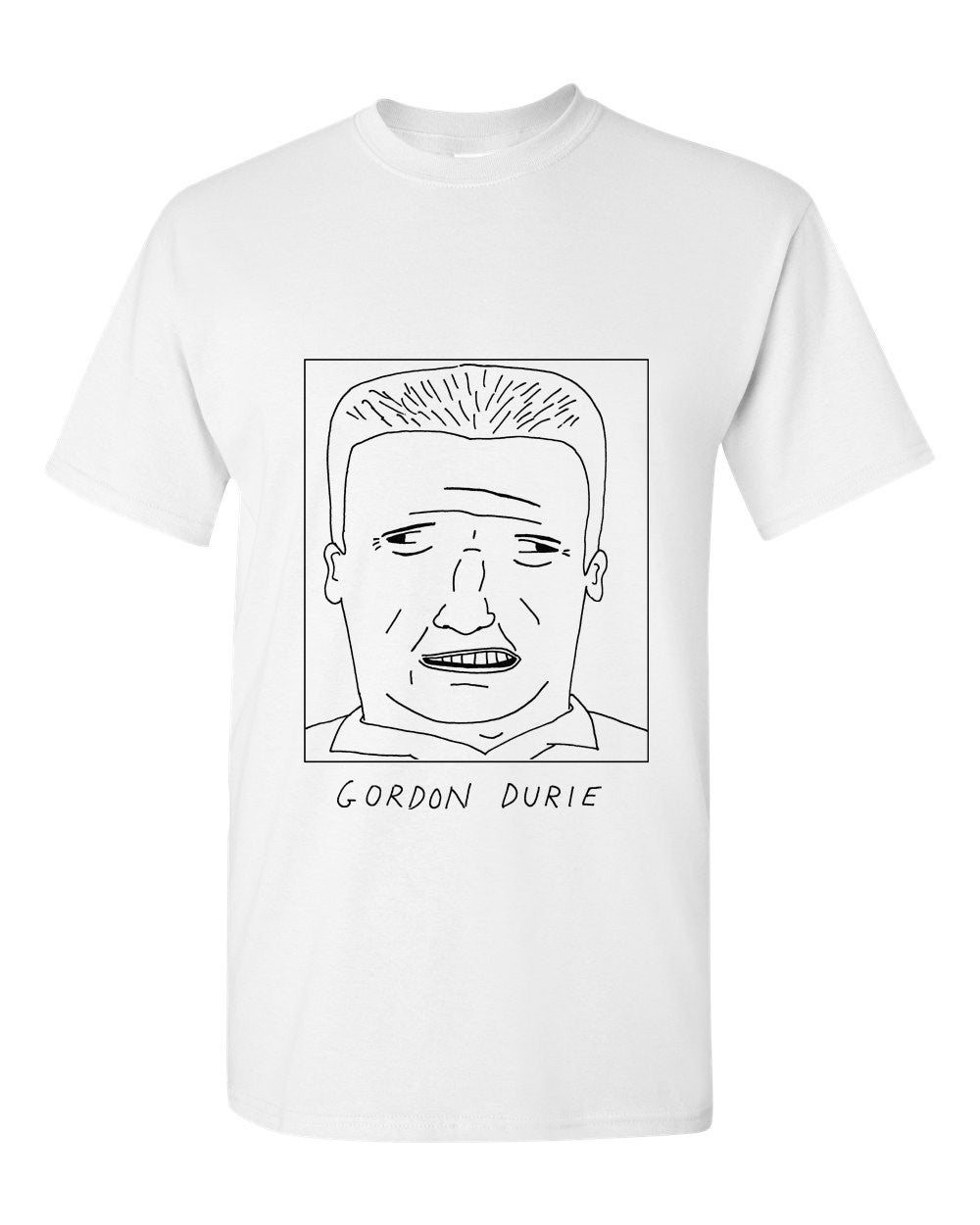 Badly Drawn Gordon Durie T-shirt - 1994 Tottenham Hotspur