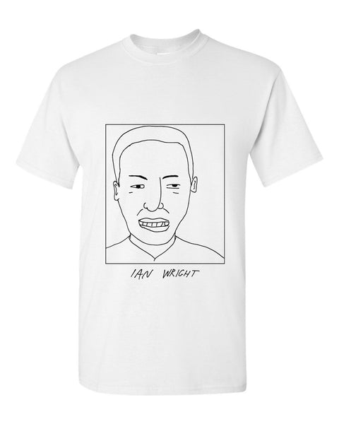 Badly Drawn Ian Wright T-shirt - 1994 Arsenal FC
