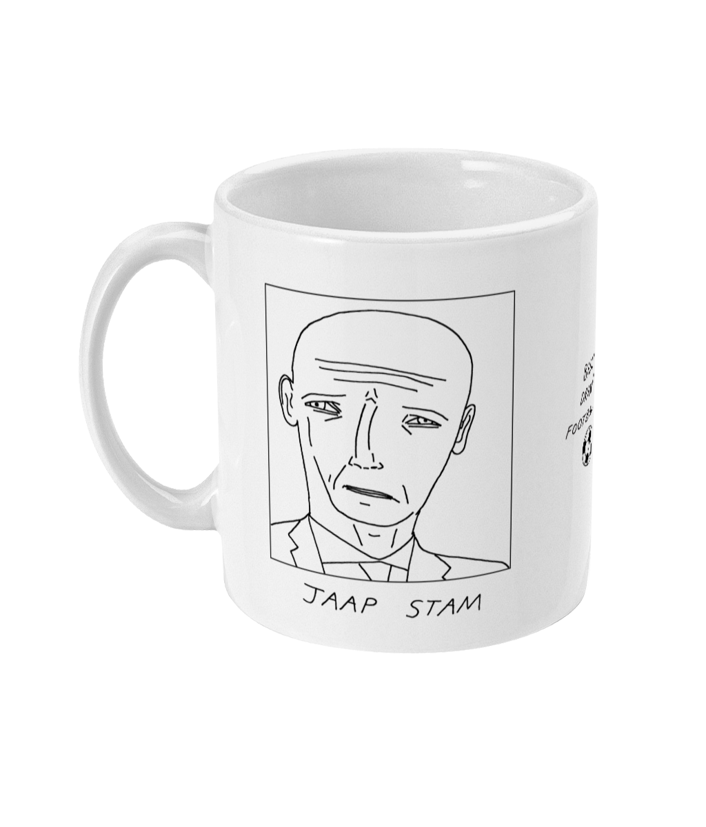 Badly Drawn Footballers Mug - Jaap Stam