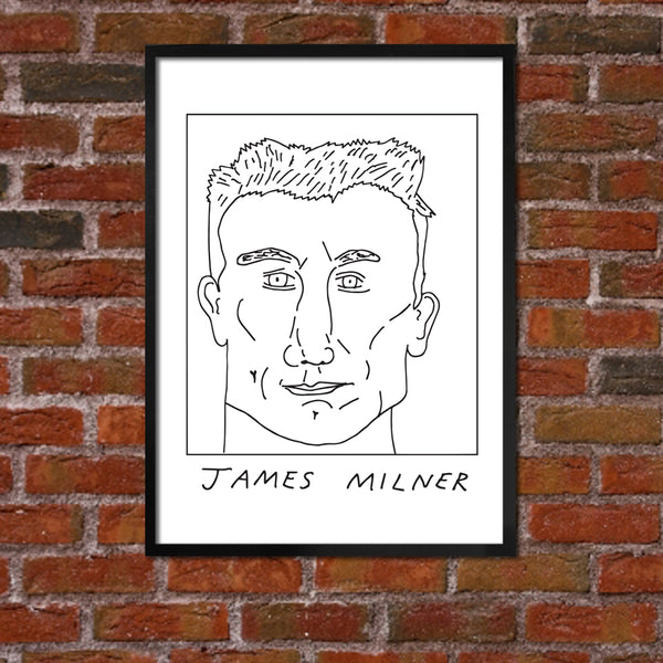 Badly Drawn James Milner - Liverpool F.C. Premier League Champions - Poster
