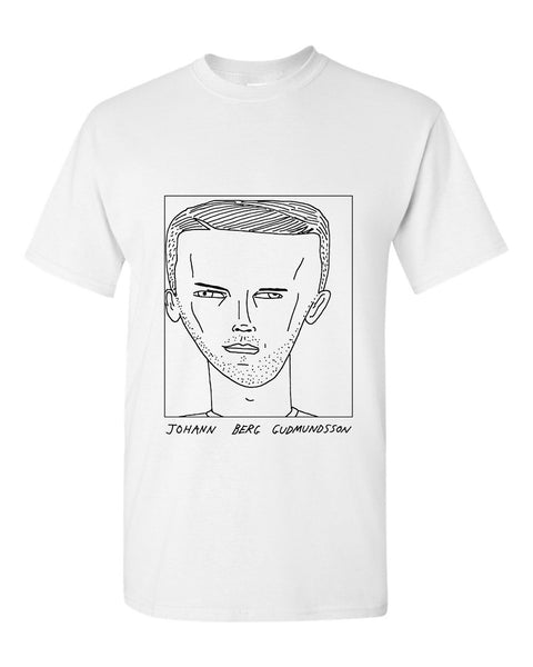 Badly Drawn Johann Berg Gudmundsson T-shirt - Burnley FC