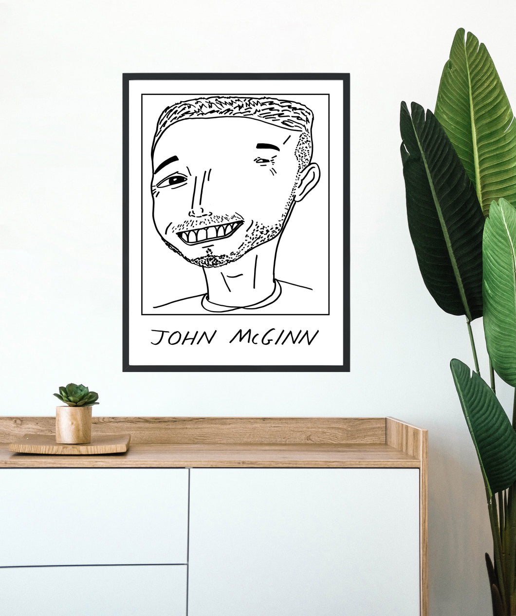 Badly Drawn Footballers - John McGinn - Poster - 3 FOR 2