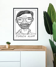 Load image into Gallery viewer, Badly Drawn Footballers - Jurgen Klopp - Poster - 3 FOR 2
