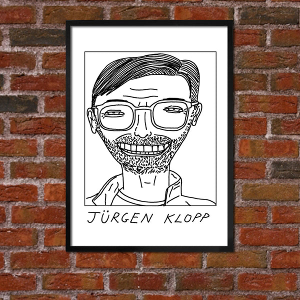 Badly Drawn Jurgen Klopp - Liverpool F.C. Premier League Champions - Poster