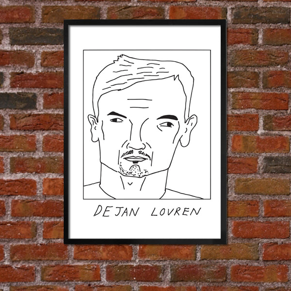 Badly Drawn Dejan Lovren - Liverpool F.C. Premier League Champions - Poster